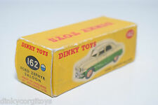 DINKY TOYS 162 FORD ZEPHYR SALOON ORIGINAL EMPTY BOX EXCELLENT CONDITION