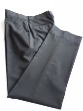 Bosco Uomo Men Black Dress Pant Size 36 Flat Front Straight Leg Slim Fit