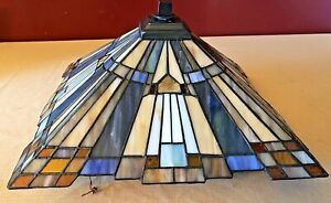 """Quoizel Tiffany Mission Style Ceiling Light Fixture 14"""" x 14"""""""