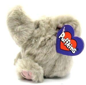 ELLY Elephant Puffkins Bean Bag Plush 1994 Swibco with Hang Tag #6620