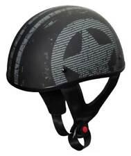 Fulmer Powersports 301 Tac Salute Flag Shorty Motorcycle Half Helmet - Black