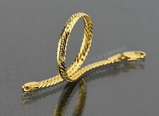 Damen Herren Armband Schlangenkette 19cm x 5mm 750 Gold/18 Karat vergoldet  1449