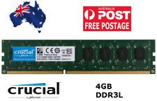 NEW! Crucial 4GB DDR3 1600 PC3 12800U DDR3 DIMM RAM Desktop Memory