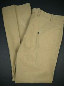 Vintage 80s Levis *NOS 546 Brown Pants Bell/Boot Cut Mens 46x34 *NWOT Distressed