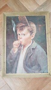 """Young Boy Smoking (plastic frame)"