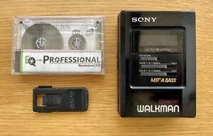Sony WM-B47 Cassette Walkman, Fully Serviced, New Belts, Japan 1992, MEGA BASS