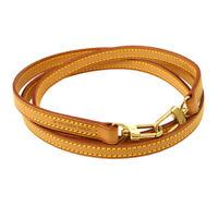 LOUIS VUITTON Logos Shoulder Strap Brown Leather  Handbag Accessories AK38610c