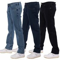 MENS STRAIGHT LEG PLAIN REGULAR JEANS FROM WAIST 30 TO BIG KING PLUS SIZE 54
