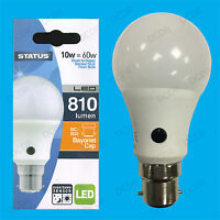 1x 10W = 60W LED GLS Dusk Till Dawn Sensor Security Night Light Bulb BC B22 Lamp