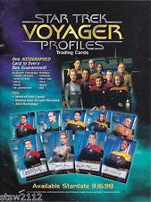 STAR TREK VOYAGER PROFILES ULTRA MASTER SET AUTOGRAPHS BINDER PROMO REDEMPTION++