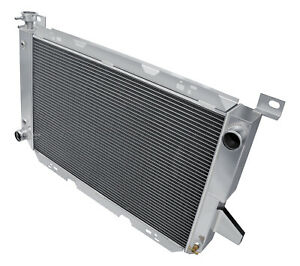 CoolingCare 2 Row All Aluminum Radiator for Ford F150 F250 F350 Pickup Truck 1966-1979