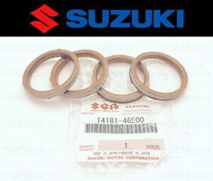 Set of (4) New Genuine Suzuki Exhaust Manifold Gasket GSX-R 600/750/1000/GSX/GSR
