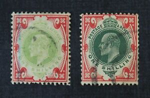 CKStamps: Great Britain Stamps Collection Scott#138 138a Edward Used