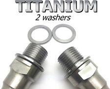 2 Washers in Titanium for Pedals axles - Very light and makes unscrewing easier!
