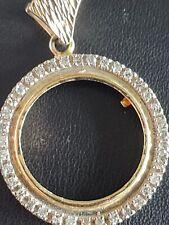 14k Yellow Gold 5 Dollar Indian Head 1/2 Eagle Diamond Coin Bezel 6.1 Grams
