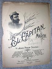 1896 EL CAPITAN March - JOHN PHILIP SOUSA - Antique Sheet Music