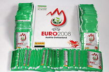 Panini EM Euro 2008 08 – 300 TÜTEN PACKETS BUSTINE SOBRES GREEN + ALBUM, MINT!
