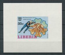 LIBERIA EPREUVE DE LUXE 1976 OLYMPIA WINTER OLYMPICS LUXUSBLOCK c2054
