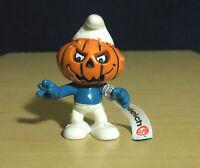 Smurfs 20548 Pumpkin Head Halloween Smurf Figure Vintage Schleich Toy Peyo PVC