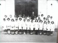 Vecchia foto bn di scolaresca SALERNO scuola elementare alunne con maestra del