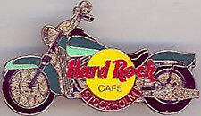 Hard Rock Cafe STOCKHOLM 2001 Green HARLEY Motorcycle PIN - HRC Catalog #9171