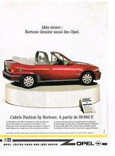 PUBLICITE ADVERTISING  1991   OPEL    CABRIO FASHION BY BERTONE