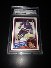 Marian Stastny Signed 1984-85 O-Pee-Chee OPC Nordiques Card PSA Slabbed 83321682