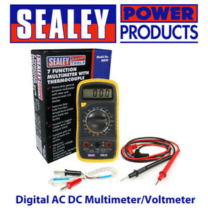 Sealey MM20 Digital AC DC Multimeter/Voltmeter Test Leads/Probe Thermocouple BN
