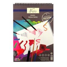 Nassau Fine Art Mixed Media A4 Art Card Wire Book - 20 Sheets, 300gsm Cartridge