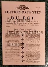 AFFICHE LETTRES DU ROI NOBLESSE HEREDITAIRE 1790 REVOLUTION carte postale