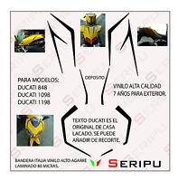 KIT DUCATI 848, 1098,1198 DECAL STICKER  VINILO RECORTE PEGATINA MOTO GP. ENDURO