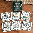 Portmeirion+Botanic+Garden+Cork+Backed+Floral+Coasters+Square+Set+of+6
