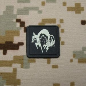 2 pieces MGS Metal Gear Solid Ghost FOX Morale tactics 3D PVC Patch