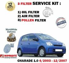 FOR DAIHATSU CHARADE 1.0 EJ-VE 2003-2007 OIL AIR POLLEN 3 FILTER