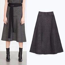 Zara Polyester Patternless Formal Skirts for Women