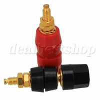 10pcs Binding Post Speaker Cable Audio Amplifier Terminal For 4mm Black + Red