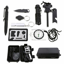 10 in 1 Professional Survival Kit Outdoor Travel Hike Camp Emergency tools Kits