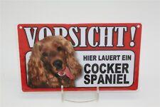 COCKER SPANIEL - Tierwarnschild - VORSICHT Warnschild 20x12 cm Schild 14