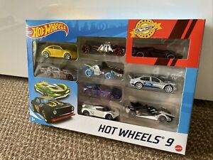 Hot wheels 9 pack Car Toy Gift Set