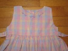Strasburg Plaid Embroidered Dress size 2 2T