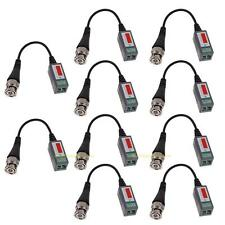 10x Channel Passive Video Balun Transceiver BNC CCTV Connector CAT5 Cable