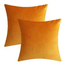 Microfiber Velvet Throw Pillow Covers Decorative Cushion Pillowcases Solid Color