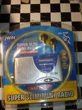 Brand New Sealed jWIN JX-M6 AM/FM Super Slim Mini Radio with Built-in Speaker
