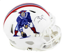 Tom Brady New England Patriots Signed Speed Throwback Authentic Helmet TRISTAR