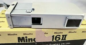 c1964 MINOLTA 16II SUB-MINIATURE 16mm SPY CAMERA Orig Box & Docs NR