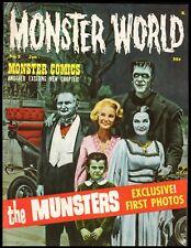 MONSTER WORLD MAGAZINE #2 NM  (THE MUNSTERS) 1965 WARREN