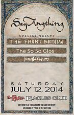 SAY ANYTHING/THE FRONT BOTTOMS 2014 MILWAUKEE CONCERT TOUR POSTER-Indie/Alt Rock
