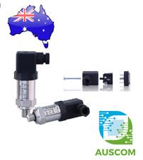 "0 - 10 Bar Pressure Transducer 4-20ma 10-30Vdc DIN Plug 1/4"" BSP"