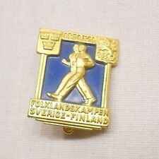 VINTAGE ATHLETICS PIN, FOLK COUNTRY KAMPEN SVERIGE - FINLAND 1941
