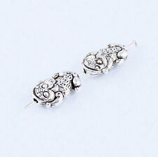 Ancient China Evil Spirits Beast Brave Troops Tibetan silver Charms Spacer Beads